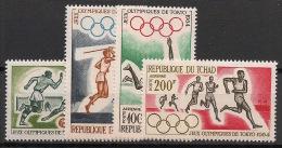 Tchad - 1964 - Poste Aérienne PA N°Yv. 18 à 21 - JO Tokyo 64 - Neuf Luxe ** / MNH / Postfrisch