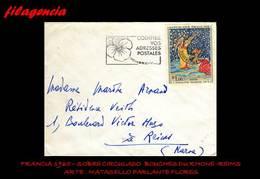 EUROPA. FRANCIA. ENTEROS POSTALES. SOBRE CIRCULADO 1965. BOUCHES DU RHONE-REIMS. ARTE. MATASELLO PARLANTE - France