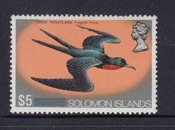 British Solomon Island 1972 $5 Great Frigate Bird - Top Value In Definitives  MH