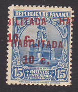 Panama, Scott #263a, Mint Never Hinged, Statue Bolivar Surcharged, Issued 1932