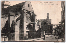 94 ARCUEIL-CACHAN - Façade De L'église Et Rue Emile Raspail - Arcueil