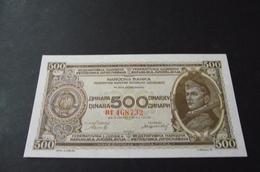 500 Dinara Dinars 1946. Unc Partizani - Yugoslavia