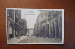 10068 GENOVA - VIA VENTI SETTEMBRE E PONTE MONUMENTALE - CARTOLINA FOTOGRAFICA - Genova