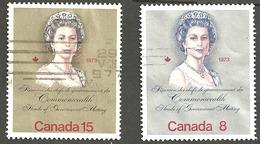Sc. # 620 & 621 Queen Elizabeth II, Royal Visit Pair Used 1973 K261 - 1952-.... Règne D'Elizabeth II