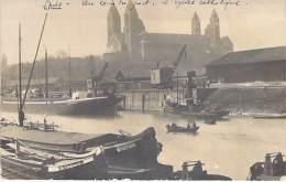 ** Carte Photo 1919 ** DEUTSCHLAND Allemagne ( Rhénanie Palatinat ) SPEYER ( Spire ) Un Coin Du Port - Eglise Catholique - Speyer