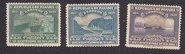 Panama, Scott #323, 325-326, Mint Hinged, Locks, Culebra Cut, Ferryboat, Issued 1939