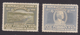 Panama, Scott #327-328, Mint Hinged, Canal, Gorgas, Issued 1939