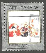 Sc. # 1419 Art Masterpiece #5, Red Nasturtiumm Single Used 1992 K272