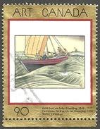 Sc. # 1635 Art Masterpiece 10, York Boat On Lake Winnipeg Single Used 1997 K275