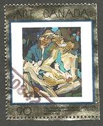 Sc. # 1754 Art Masterpiece 11, The Farmer's Family Single Used 1998 K278