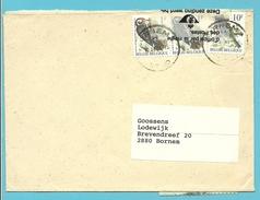 2349+2351 Op Brief Stempel BORNEM, Brief Beschadigd En Hersteld Met Strook BESCHADIGD GEVONDEN / REGIE POSTERIJEN