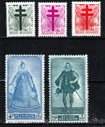 Belgique - Série De 1948 COB 787/91 ** Très Beau Cote 56€