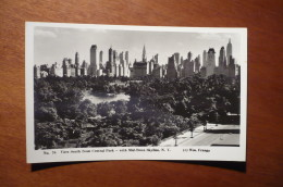 10159 NEW YORK - VIEW SOUTH FROM CENTRAL PARK WITH MID-TOWN SKYLINE -- PHOTO POSTCARD - Central Park