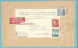 848B+1066+1071 Op Brief Voorzijde Aangetekend Per EXPRES  Stempel AUDERGHEM / OUDERGEM
