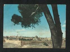Jordan Picture Postcard Panorama Jerusalem View Card