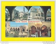 1970 YEARS CYPRUS AYIA NAPA MONASTERY MONASTERE MULTI VIEWS POSTCARD - Chypre
