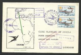 Angola Portugal Premier Vol SAA Afrique Du Sud Boeing 747 Luanda Londres 1971 First Flight South Africa Airlines