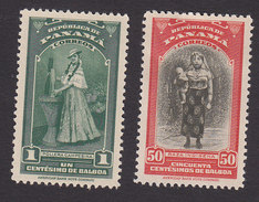 Panama, Scott #343, 348, Mint Hinged, Farm Girl, San Blas Indian Woman, Issued 1942