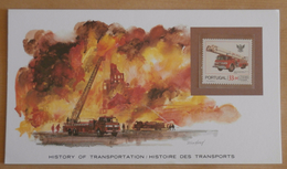 FDC Histoire Des Transports  Véhicule De Pompiers