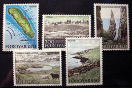 FAROE ISLANDS # 161-165.  Map And Islands Scenes.  MNH (**) - Faroe Islands