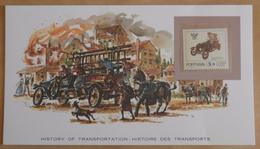 FDC Histoire Des Transports  Le Camion De Pompiers