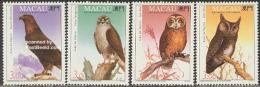 Macao 1993 Birds Of Prey 4v, (Mint NH), Nature - Owls - Birds - Birds Of Prey