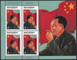Specimen, Montserrat Sc941 Sheet, Mao Tse-tung (1893-1976) - Mao Tse-Tung