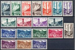 Andorra (French) Stamp Landscape Set MNH 1955 Mi 142-160 Lot1