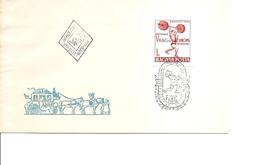 Haltérophilie ( FDC De Hongrie De 1962 Avec Timbre Non Dentelé  à Voir)