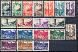 Andorra (French) Stamp Landscape Set MNH 1955 Mi 142-160 Lot2