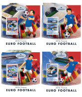 DJIBOUTI 2016 ** Football Fußball Soccer Euro France 2016 4S/S - IMPERFORATED - DH1720