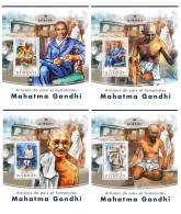 DJIBOUTI 2016 ** Mahatma Gandhi 4S/S - IMPERFORATED - DH1720