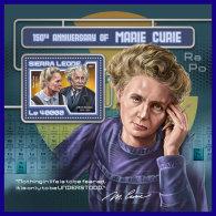 SIERRA LEONE 2017 ** Marie Curie Albert Einstein S/S - IMPERFORATED - DH1720 - Albert Einstein