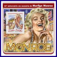 SAO TOME 2017 ** Marilyn Monroe Cinema Kino Film S/S - IMPERFORATED - DH1720 - Cinema