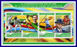 TOGO 2017 ** Pierre De Coubertin Olympic Games M/S - IMPERFORATED - DH1720