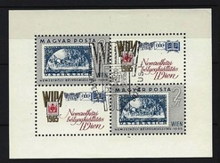 UNGARN - Block Nr. 47 A Internationale Briefmarkenausstellung WIPA 1965, Wien Gestempelt