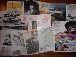 FRANCE. Aviation. Lot De 90 Cartes Souvenirs Philatéliques Et 1er Jour, Période Moderne (années 70/80) . Départ 1 €