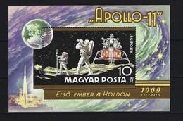 UNGARN - Block Nr. 80 A - Apollo 14 Postfrisch (2)
