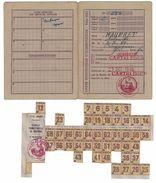 1946 CARTE INDIVIDUELLE D'ALIMENTATION MAUFRET ANTOINETTE 02-07-89  CARTELEGUE GIRONDE ( AVEC COUPONS ) - Food