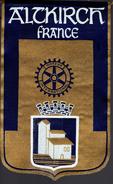Fanion:    ALTKIRCH.  FRANCE.     * ROTARY CLUB INTERNATIONAL * - Organisations