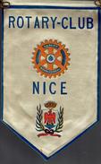 VINTAGE FANION:    NICE.    (FRANCE).  -   ROTARY  INTERNATIONAL. - Organisations