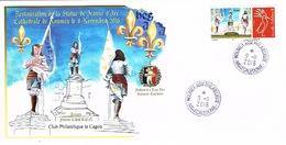 Nouvelle Caledonie Enveloppe Commemorative Club Cagou Timbre Personnalise A Moi Prive Jeanne D'arc Statue Drapeau 2016 - Nouvelle-Calédonie