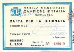 Casino Municipale Campione D'Italia 20-MAR-78 Carta Per La Giornata - Casino Cards