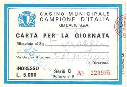 Casino Municipale Campione D'Italia 23-SET-78 Carta Per La Giornata