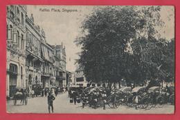 Singapour /  Raffle Place, Singapore  - 1923  ( See Always Reverse / Voir Verso ) - Singapour