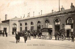 RENNES LA GARE CPA ANIMEE - Rennes