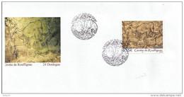 """Ensembe 1er Jour """"Grotte De Rouffignac"""" Du 27-05-2006 - Env. + Triptyque La Poste + Gravure + Notice Philatélique - Lettres & Documents"""