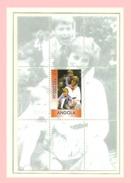 ANGOLA, 1999 Lady Diana Block ** MNH