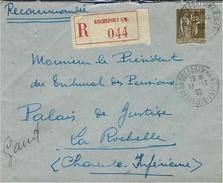 1932 - Enveloppe RECC. Affr. Paix N° 287  SEUL  Oblit Cad De Rochefort S/ Mer - Postmark Collection (Covers)