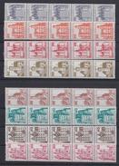 Berlin Ex 532-644 Rollenmarke 5er Streifen Burgen Und Schlösser 21 Werte **